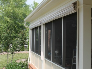 Screen Porch Shades raised